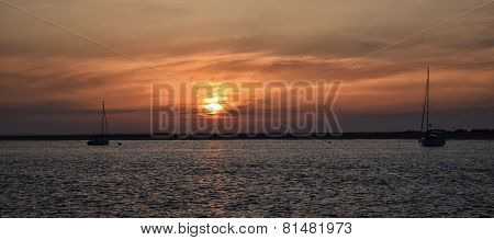 Sailboats and Sunset