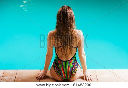 Sensual Woman Buttocks In Swimsuit