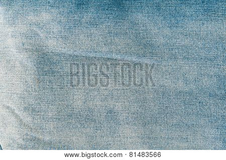 Closeup Detail Of Blue Jeans Fabric Texture Background