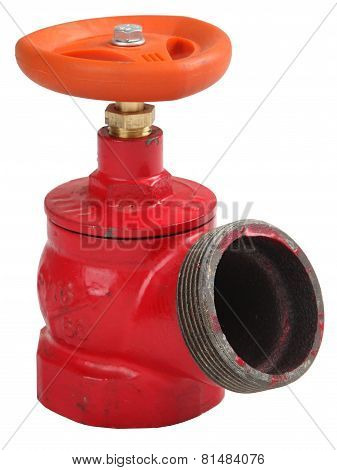 Red Iron Oblique Indoor Fire Hydrant Valve With External Thread