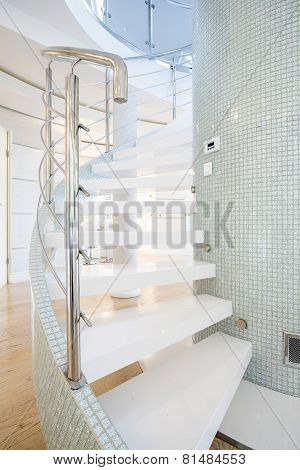 Designed Stairs In Shining Interior