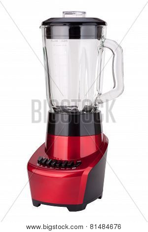 Red Electric Blender Angled (clipping Path)