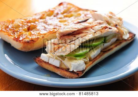 Brie With Chicken Sandwich With Apple And Marmalade