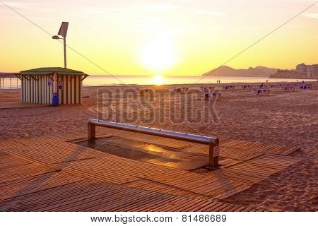 Sunset On Benidorm Beach