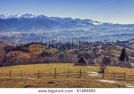 Romanian Alpine Rural Scenery