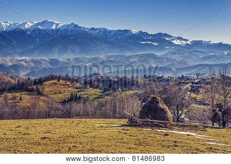 Romanian Alpine Rural Scenery