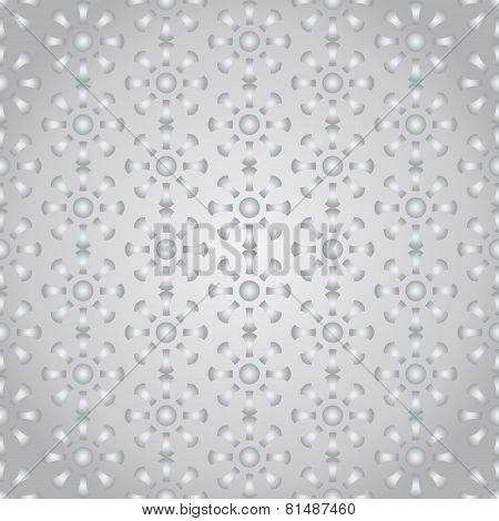Silver Retro Bone And Circle Pattern On Pastel Color