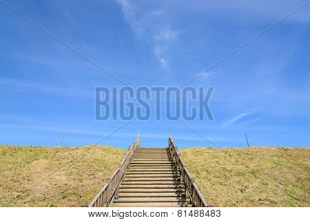 Stairs At A Hill