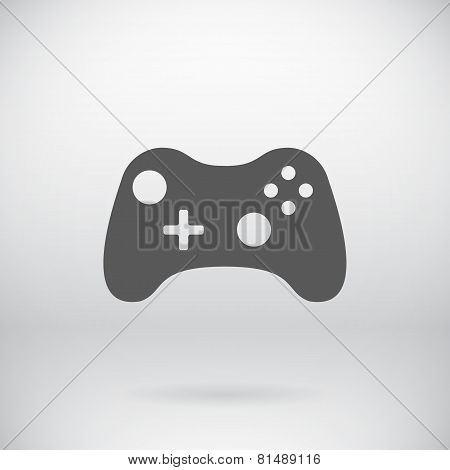 Flat Gamepad Joystick Joypad Icon Vector Symbol Background