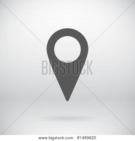 Flat Map Pin Sign Vector Map Marker Symbol Background