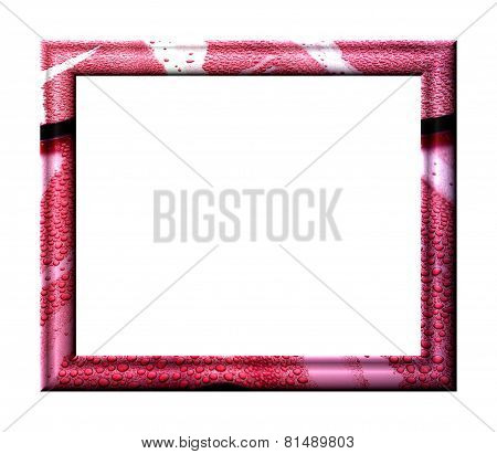Red Frame With Water Drops