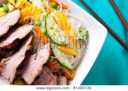 Mango Noodle Salad With Pork Tenderloin