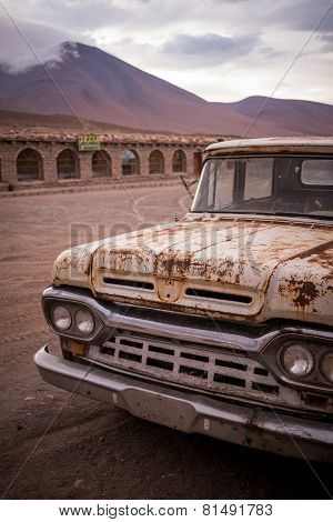 Rusty, Old, Broken Pickup Truck