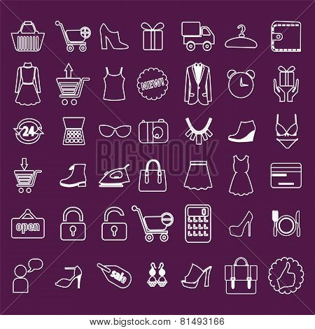 Shopping And Retail Related Icons Set