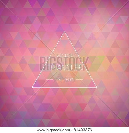 Retro Hipster Geometric Triangles Pattern Texture. Colorful mosa