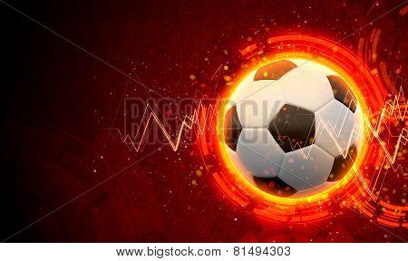 3D Rendered Medical Illustration Of Football