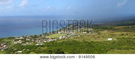 Coastline of St Kitts