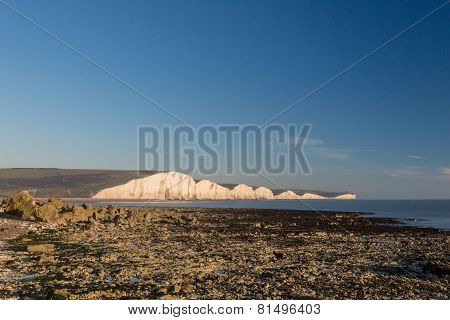 Seven Sisters from the beach