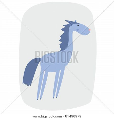 vector illustration of a cartoon horse