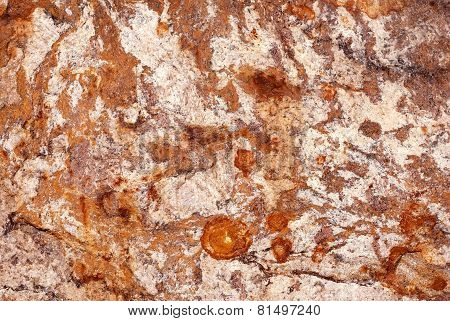 Rust colors closeup marble texture.