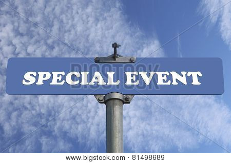 Special event road sign