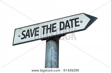 Save the Date sign isolated on white background