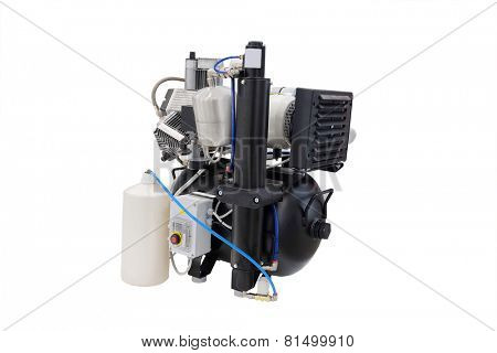 compressor discharge air isolated under the white background