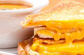 picture of tomato sandwich  - grilled cheese sandwiches and tomato chickpea soup - JPG