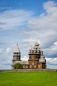 stock photo of reconstruction  - Wooden church at Kizhi under reconstruction - JPG
