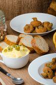 pic of tatar  - Breaded mushrooms fried with fresh orange juice and homemade tartar sauce - JPG