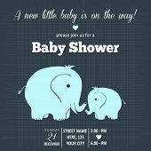 picture of pretty-boy  - baby boy shower card  - JPG