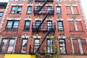 stock photo of west village  - West Village in New York Manhattan building facades USA NYC - JPG