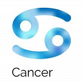 picture of zodiac sign  - Astrological zodiac symbol Cancer - JPG