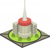 foto of isometric  - Isometric city Vector illustration of isometric cityscape - JPG