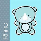 Постер, плакат: baby rhino