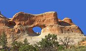 pic of arch  - Tunnel Arch Arches National Park in Utah USA - JPG