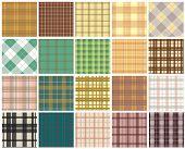 pic of tile  - Plaid seamless patterns - JPG