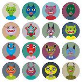 foto of beast-man  - Cute cartoon Monsters Set - JPG