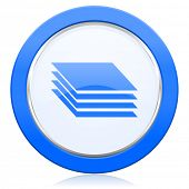 stock photo of gage  - layers icon gages sign  - JPG