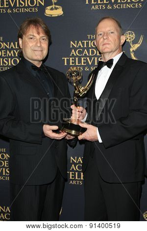 LOS ANGELES - APR 24: Danny Lecuna, Brian Connell at The 42nd Daytime Creative Arts Emmy Awards Gala at the Universal Hilton Hotel on April 24, 2015 in Los Angeles, California