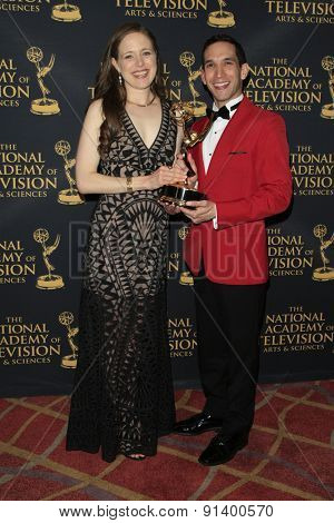 LOS ANGELES - APR 24: Jessica Carleton, Scott Gryder at The 42nd Daytime Creative Arts Emmy Awards Gala at the Universal Hilton Hotel on April 24, 2015 in Los Angeles, California