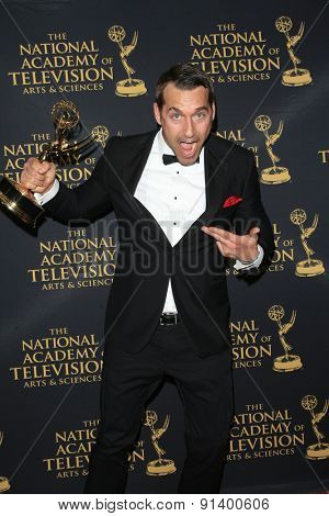 LOS ANGELES - APR 24: Brendan McMillan at The 42nd Daytime Creative Arts Emmy Awards Gala at the Universal Hilton Hotel on April 24, 2015 in Los Angeles, California
