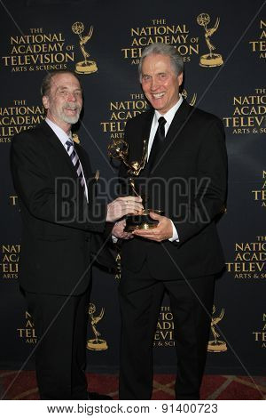 LOS ANGELES - APR 24: Jim Dray, Gordon Sweeney at The 42nd Daytime Creative Arts Emmy Awards Gala at the Universal Hilton Hotel on April 24, 2015 in Los Angeles, California