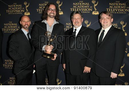 LOS ANGELES - APR 24: Sound Mixing Kung Fu Panda at The 42nd Daytime Creative Arts Emmy Awards Gala at the Universal Hilton Hotel on April 24, 2015 in Los Angeles, California