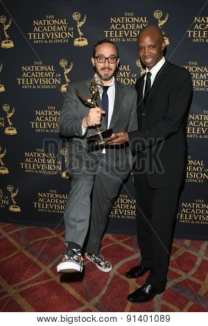 LOS ANGELES - APR 24: Jesse Averna, Todd James at The 42nd Daytime Creative Arts Emmy Awards Gala at the Universal Hilton Hotel on April 24, 2015 in Los Angeles, California