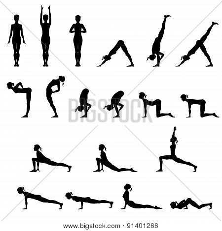 Set Of 19 Yoga Positions