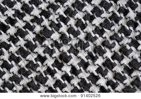 Arabic black and white cloth fabric pattern