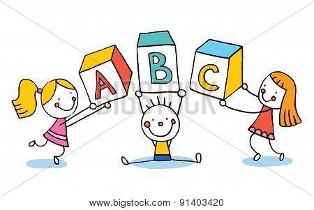 ABC letters kids education