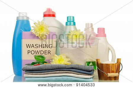 Washing powder and cleaning items
