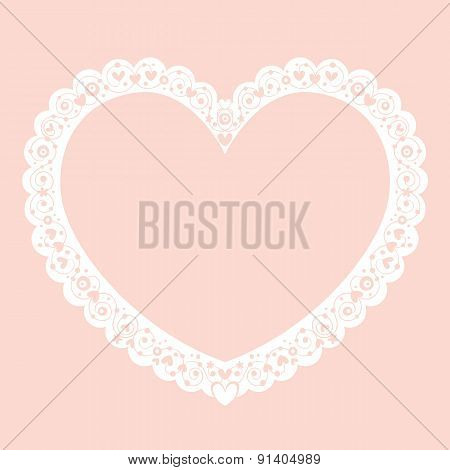 Valentine heart decorative ornamental frame banner background